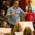 Dirigent Michael beim Abschlusskonzert